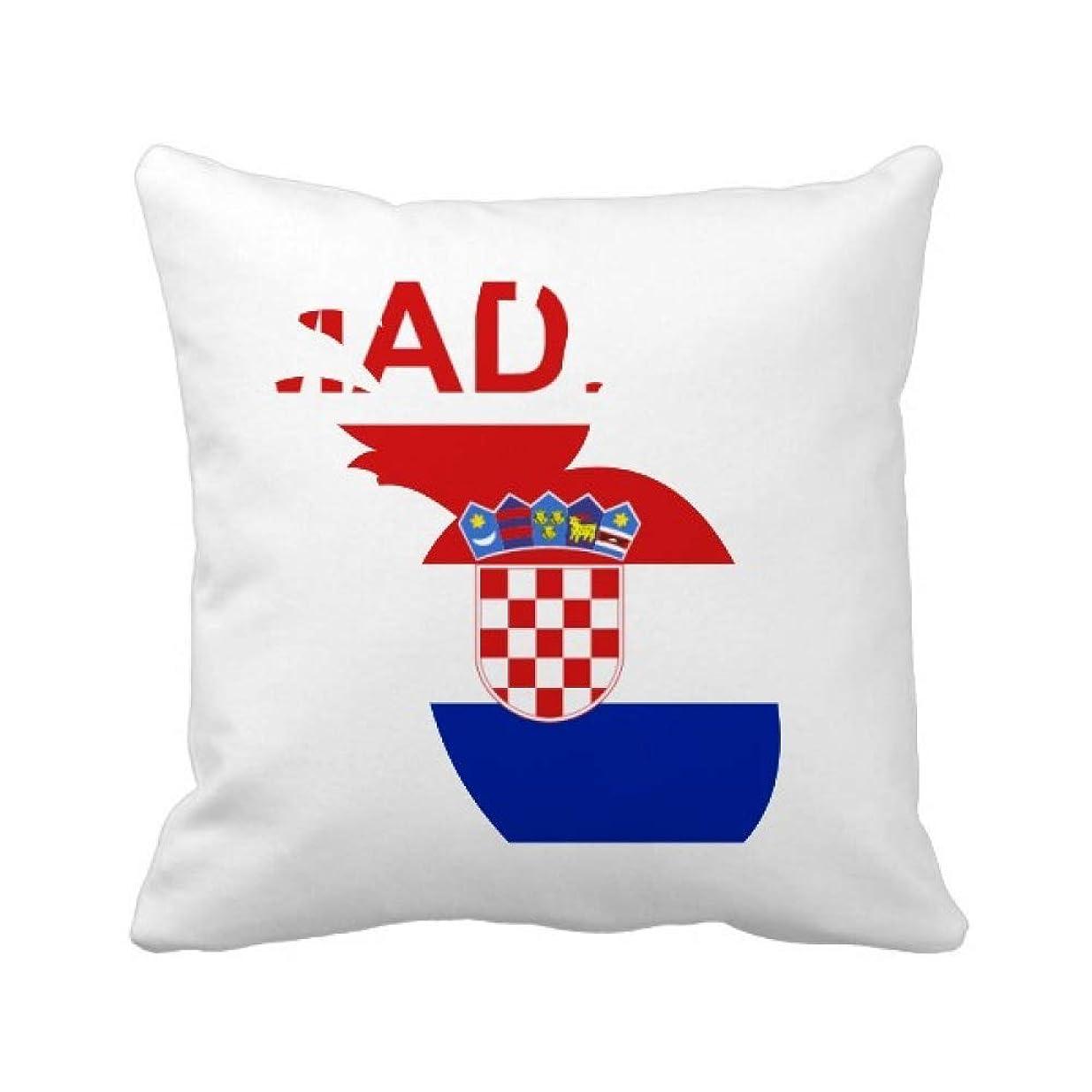 法廷イベント発言するクロアチアの国が好きで パイナップル枕カバー正方形を投げる 50cm x 50cm