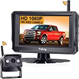 Wireless Backup Camera for RV HD 1080P 5'' Monitor Bluetooth Backup Camera Kit Hitch Rear View Camera System for RVs,Campers,Trucks,Trailers, Vans IP69K Waterproof Yakry Y22