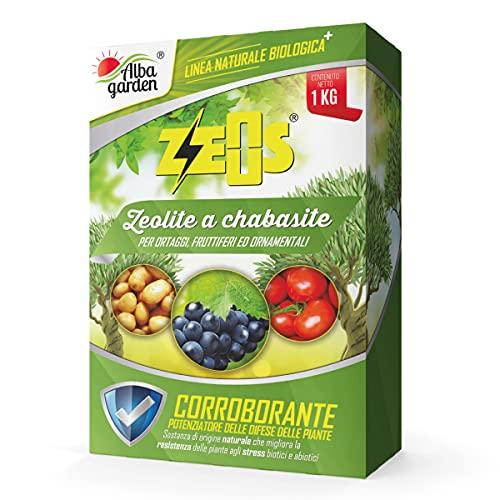 Albagarden - Zeous Zeolite Chabasite in polvere x 1 Kg Caolino Corroborante Agricolo, Insetticida...