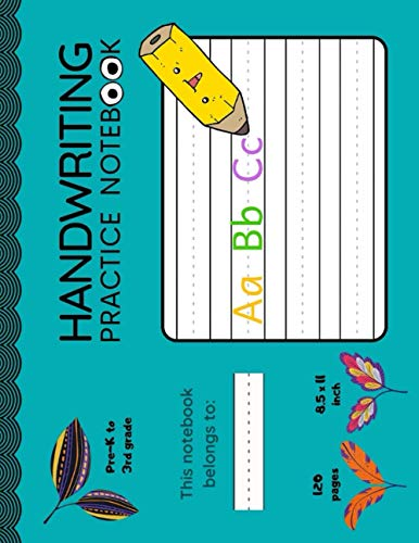 Panoramic Handwriting Practice Book for Kids in Pre-K to 3rd Grade I Primary Tablet: 120 pages I blank double lines with a dotted center line I 11x8.5 inch (Young Learners Notebooks)