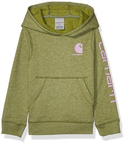 Carhartt Mädchen Kapuzenpullover Fleece Pullover Sweatshirt - Grün - 6X