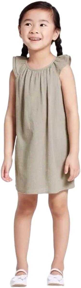 Victoria Beckham Toddler Girls' Sage Green Cap Sleeve Glitter Dot Peasant Dress