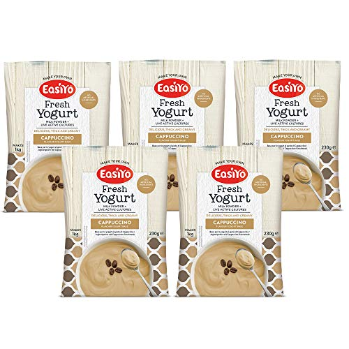 EasiYo Cappuccino Yogurt Mix - Various Size Packs (5 Sachets)