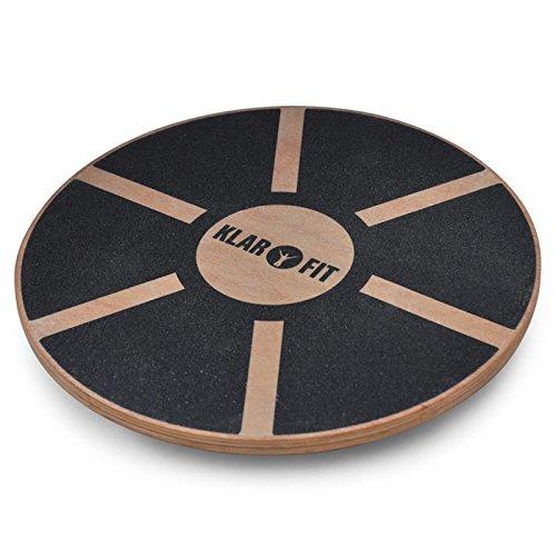 Klarfit Balanceboard - Planche d'équilibre de proprioception, pour Travailler l'équilibre et la Coordination et la rééducation - Surface Anti-dérapante (Ø de 37,5cm, Charge maximale de 150kg)