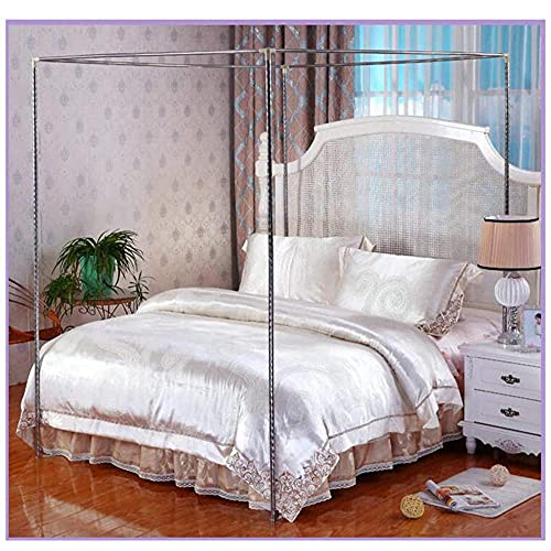 Mosquitera de acero inoxidable para cuatro tartas, marco para cama individual, doble, doble, doble, doble, doble, doble, doble, queen, king size, California King-25 mm, 1,35 x 2 m