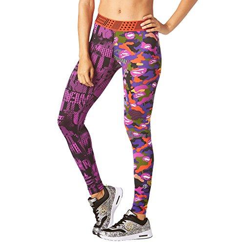 Zumba Mallas de compresión con Cintura Ancha para Mujer Mediano Púrpura
