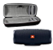 JBL Charge 4 Waterproof Wireless Bluetooth Speaker Bundle with Portable Hard Case - Black (Renewed)