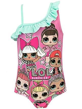 Lol Surprise Bañador para Niña Dolls Rosa 5-6 Años