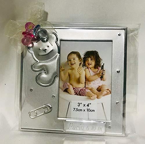 potente para casa Marcos de fotos para bautizos de niños o niñas Grabado personalizado (12 piezas) Marcos de fotos …