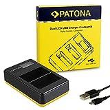 PATONA Cargador Doble LCD USB para EN-EL15 Bateria Compatible con Nikon 1 V1 D850 D7000 D7100 D7200 D7500