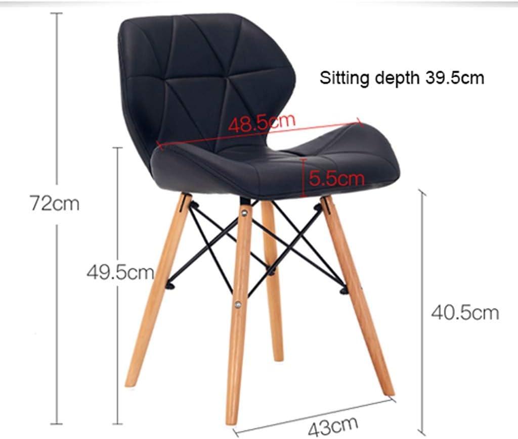 HXF- Chaise de salle à manger, chaise de bureau simple, dossier créatif, chaise de loisirs, chaise de salle à manger pour adulte durable (couleur : blanc) Rose