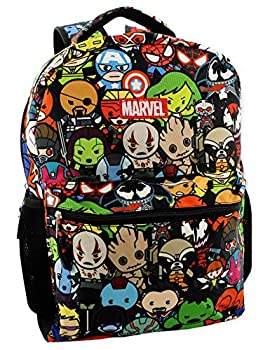 Marvel Kawaii Avengers Boys Girls 16  School Backpack  One Size Black/Multi