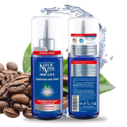 NaturVital Sérum Tratamiento Intensivo Anticaída, Azul, 84 Mililitros