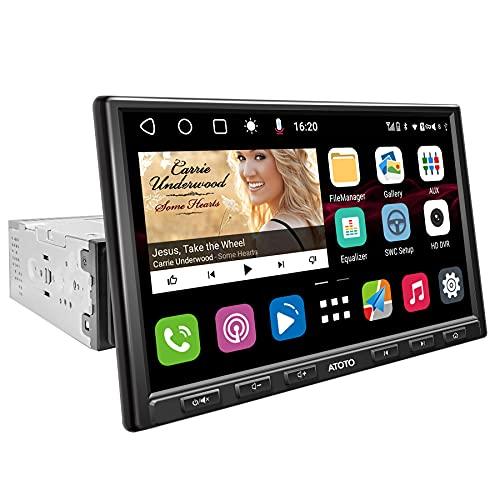 [DIN singolo/8 pollici] Lettore video per auto con cruscotto Android ATOTO S8 Gen2 Standard S8G1A84SD con navigazione (senza DVD),2BT, Retrovisore HD con LRV, Android Auto e CarPlay, SCVC e altro