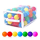 PlayMaty Play Ball Pool Pit Balls - Phthalate Free BPA Free Colorful Plastic Ocean Balls for Kids Swim Pit Fun Toys 100 Pieces for Toddlers and Baby Playhouse Play Tent Playpen(Colorful)