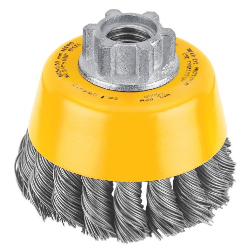 DeWALT Dw4910 7,6 cm par 5/8-inch-11 nouée Brosse coupe en acier carbone/.020-inch