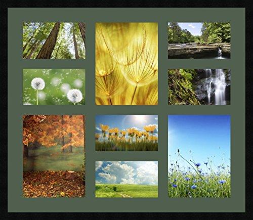 Marcos de fotos con diseño de melocotón para 6 fotos, 25 x 15 y 3 fotos, 25 x 33 cm, para colgar en cualquier parte, marco de fotos de 8 x 75 cm, negro, 3 cm de ancho