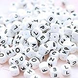 Mamimami Home Perline Per Dentizione in Silicone in 26 Lettere 12mm 100pc Perline Per Alfa...