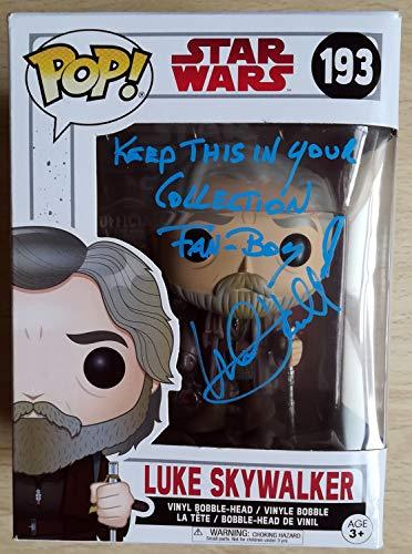 Mark Hamill Autograph Funko Pop! #193 Luke Skywalker 6\ firmado con COA