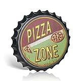 不适用 Tapa de metal para botellas de 40,64 cm de diámetro para pizza, ideal para decoración de pared en el hogar y la cocina, bar, cafetería, garaje