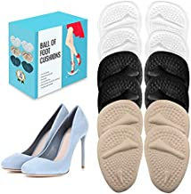 (12 Pieces) Metatarsal Pads for Women | Ball of Foot Cushions for Pain Relief | Reusable Shoe Inserts for Women by BelugaCare
