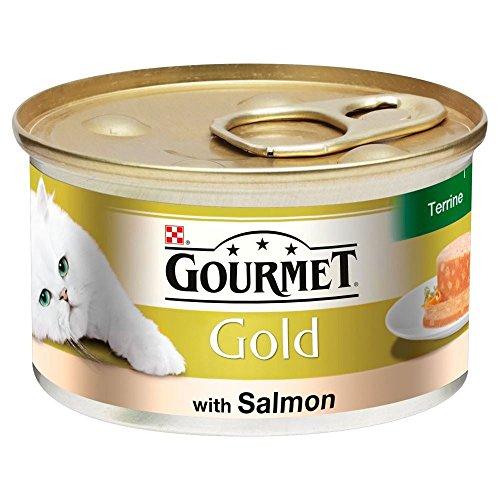 Gourmet Gold Terrine mit Lachs (85g) - Packung mit 6
