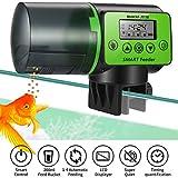 Pidsen Futterautomat Fische Automatischer, Fisch Futterspender mit LCD Bildschirm intelligent und Timer, 200ML Fischfutterautomat Fischfutter für Aquarium, Fischtank, Schildkröten