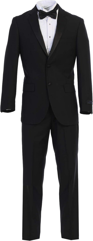 King Formal Wear Luxury Men's Black Tuxedo