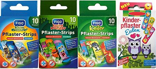 Set di cerotti per bambini – con fantastici motivi colorati a scelta – Animali – Cartoni animati – Avventura/bambini multicolore