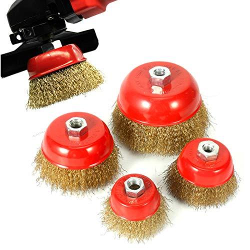Cepillo de limpieza eléctrico Tipo tazón rueda de alambre cepillo de alambre...