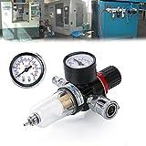 Zipom - Regulador de presión de Filtro de 1/4' BSP para compresor y Herramientas de Aire
