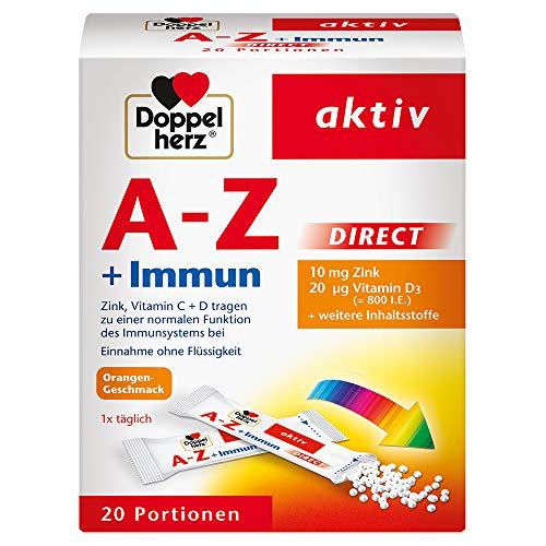 Doppelherz A–Z + Immun DIRECT – Mit Zink, Vitamin B12, Vitamin C und D als Beitrag für die normale Funktion des Immunsystems – 20 Sachets