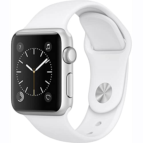 Apple Watch Series 1 38mm Smartwatch (Silver Aluminum Case/White Sport Band)