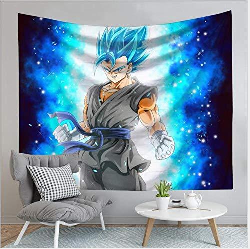 MSHAQT Dragon Ball Z Goku Colgante De Pared Anime Tapiz Colcha Manta De Picnic Sala De Estar Deco Cabecera 150 Cm * 130 Cm