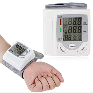 WYP Presión Electrónica Automática, Esfigmomanómetro De Muñeca, Medición del Pulsómetro del Ritmo Cardíaco Monitor LCD Digital Automático