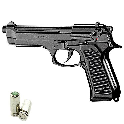 KIMAR Scacciacani Pistola a Salve Beretta 92 Calibro 9mm Nera