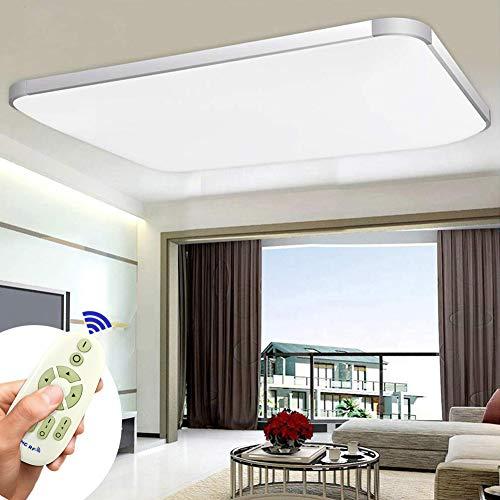 COOSNUG Luces de techo 90W Regulable Lámpara de techo LED ultradelgada Dormitorio moderno Cocina Pasillo Sala de estar Lámpara de plata regulable 3000-6500K