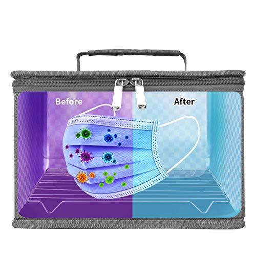 Esterilizador UV Movil Desinfección UVC Portátil Caja Ultravioleta Lámpara 99% de Eficiencia Esterilización en 5 Minutos Utilizada Para Teléfonos Móviles Juguetes Biberones Manicura etc.