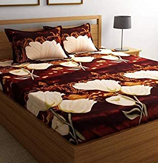 STARnSTYLE Cotton 140 TC Bedsheet (Double_White)