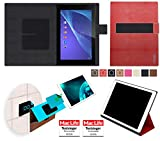 Hülle für Sony Xperia Z2 Tablet Cover Hülle Bumper | in Rot Leder | Testsieger