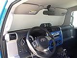HeatShield, The Original Windshield Sun Shade, Custom-Fit for Toyota FJ Cruiser SUV 2007, 2008, 2009, 2010, 2011, 2012, 2013, 2014, Silver Series