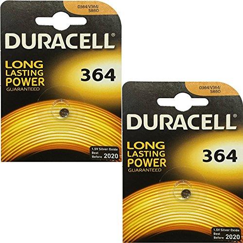 2x Duracell 364 1.5v Silver Oxide Watch Battery Batteries SW621SW D364 V364 SR60