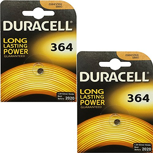 2x Duracell 364 1.5v Silver Oxide Watch Battery Batteries SW621SW D364 V364 SR60