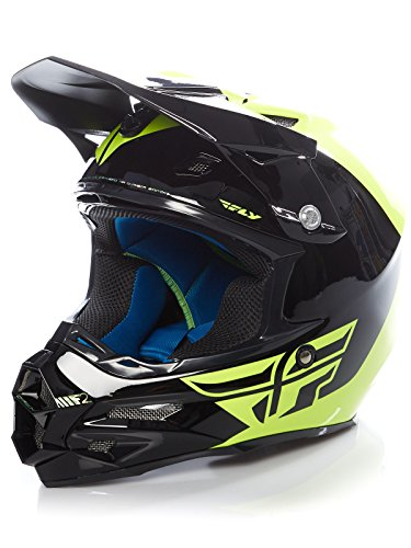 Casque Motocross Fly Racing 2016 F2 Carbon Pure H Viz Noir
