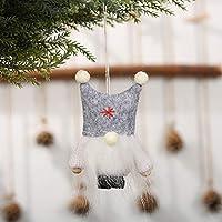 Tickas クリスマスオーナメントぬいぐるみ人形かわいい老人顔のない人形ぶら下げペンダント装飾クリスマスギフトホームパーティークリスマス装飾