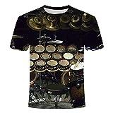 corn cake 2 Camisetas para Hombre 3D Impreso Digital Flame Guitar 3DT shirts-a147_L