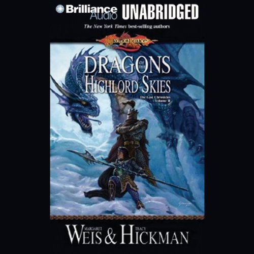 Dragons of the Highlord Skies audiobook cover art