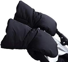 Guantes de Silla de Paseo Forro polar Impermeable Caliente a Prueba de Viento Manoplas para Cochecitos Coches (Negro)