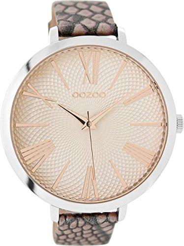 OOZOO Timepieces Damenuhr Leder/Sonstige analog Quarzwerk Lederband C9172