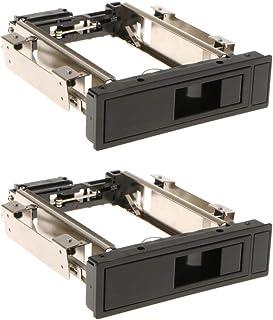 Kesoto 2 prateleiras móveis SATA de 8,8 cm sem bandeja Hot-Swap para caixa de disco rígido HDD
